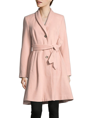 Ivanka Trump Shawl Collar Robe Coat-BLUSH-12