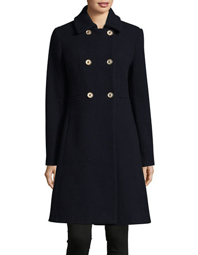 Ivanka Trump Woven Texture Coat-NAVY-12