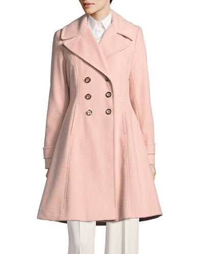 Ivanka Trump Wool-Blend Flared Tench-BLUSH-10