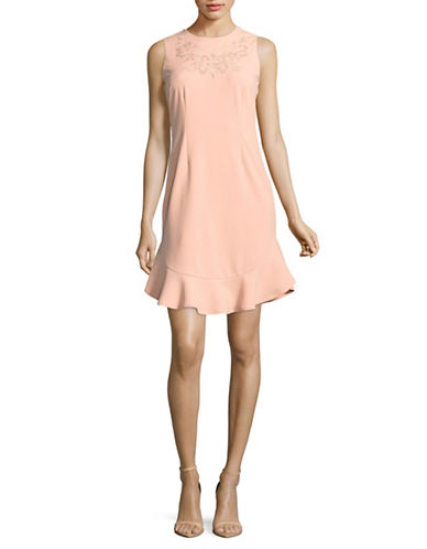 Ivanka Trump Sleeveless A-Line Dress-PINK-8