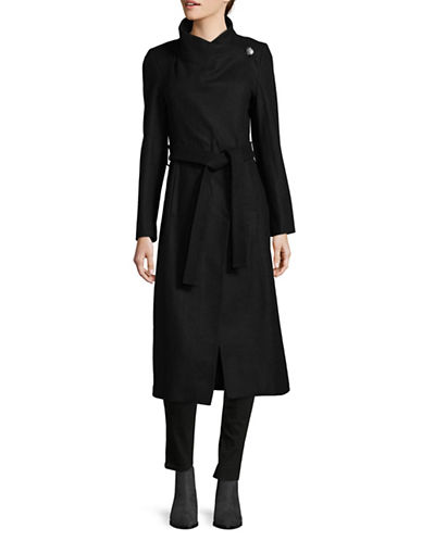 Kenneth Cole New York Wool-Blend Maxi Wrap Coat-BLACK-12