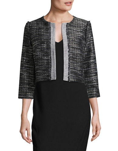 Karl Lagerfeld Paris Two-Toned Jacket-BLACK-Medium