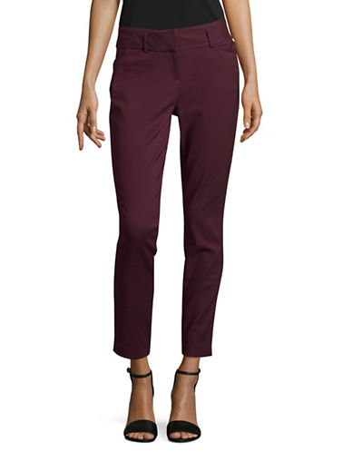 Ivanka Trump Slim Ankle Length Pants-PURPLE-4