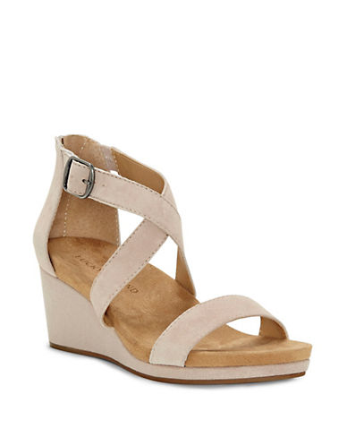 Lucky Brand Crisscross Suede Wedge Sandals 89965731
