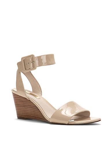 Punya Odessa Patent Leather Wedge Sandals by Louise Et Cie