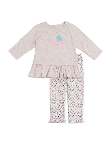 Kyle & Deena Two-Piece Tee and Leggings Set-WHITE-12 Months