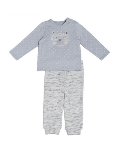 Kyle & Deena Two-Piece Tee and Jogger Pants Set-GREY-24 Months