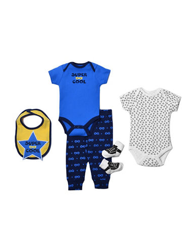Chick Pea Five-Piece Super Cool Clothing Set-NAVY-0-3 Months