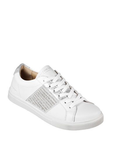 Skechers Womens Moda Bling Bandit Sneakers-WHITE-7