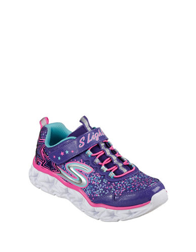 Skechers Galaxy Lights Low Top Sneakers-PURPLE-5