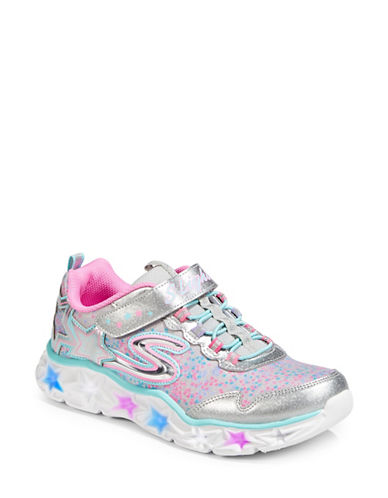 Skechers Galaxy Lights Low Top Sneakers-SILVER-12