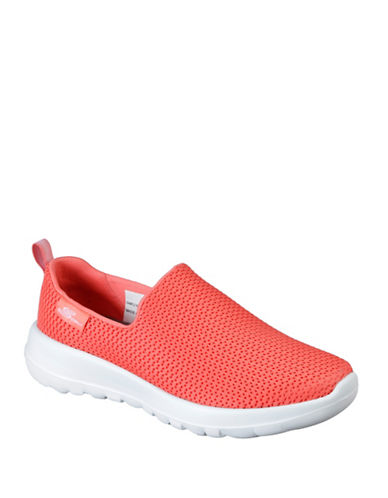 Skechers Womens Go Walk Joy Sneakers-ORANGE-6.5