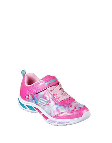 Skechers Litebeams Dance N Glow Low Top Sneakers-PINK-3