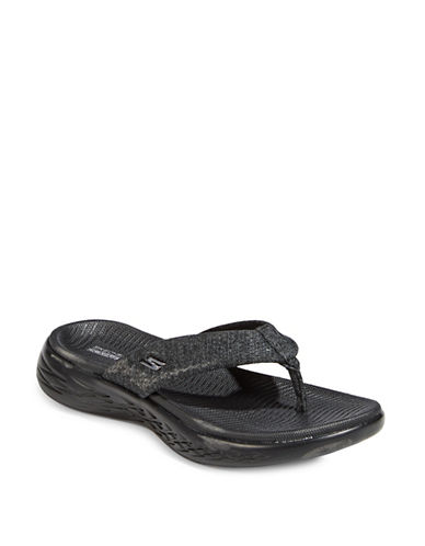 Skechers On The Go 600 Sandals-BLACK-7