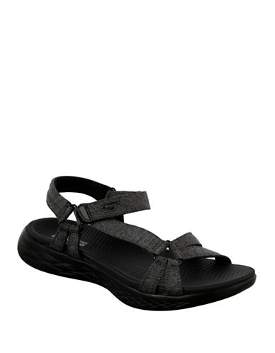 Skechers Womens On The Go 600 Brilliancy Sandals-BLACK-6