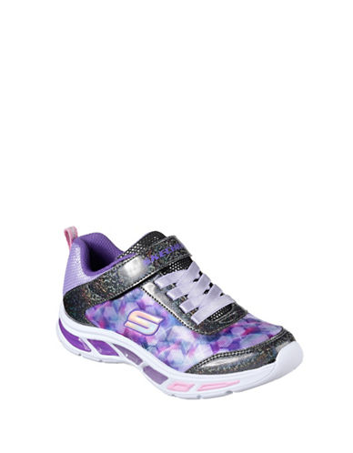 Skechers Litebeams Dance N Glow Low Top Sneakers-PURPLE-12