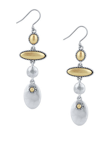 Lucky Brand New West Two-Tone Linear Dangle Drop Earrings-TWO TONE-One Size