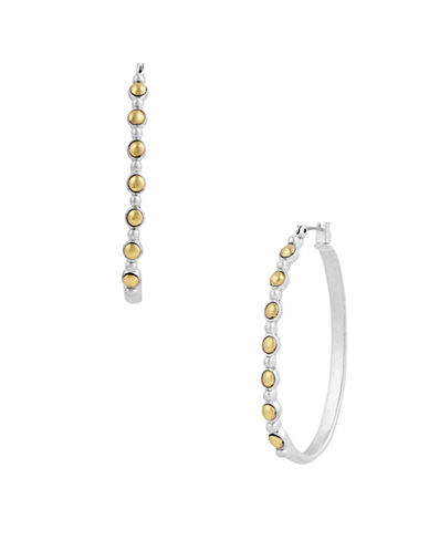 Lucky Brand New West Two-Tone Hoop Earrings-TWO TONE-One Size