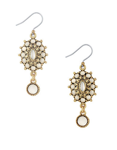 Lucky Brand New West Squash Blossom Dangle Drop Earrings-GOLD-One Size