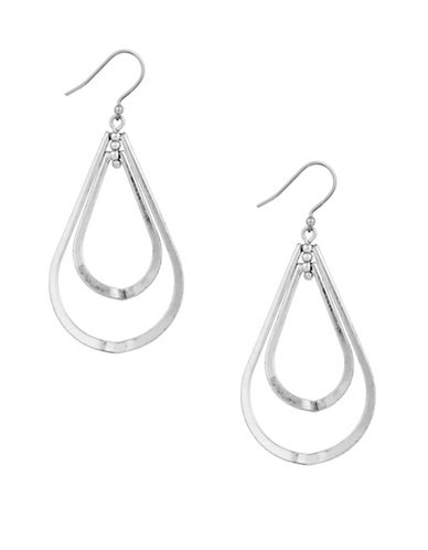 Lucky Brand Double Orbit Earrings-SILVER-One Size