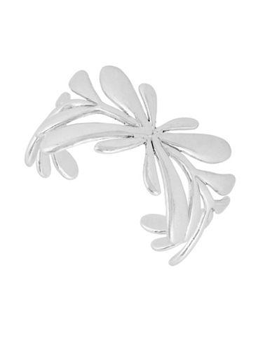 Lucky Brand Leaf Cuff Bracelet-SILVER-One Size