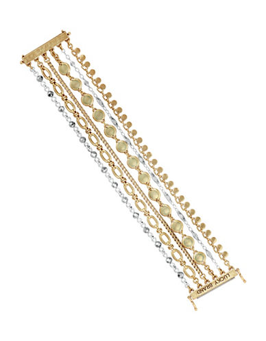 Lucky Brand Chain Lucky Layer Bracelet-MULTI-One Size