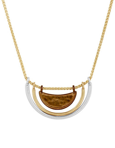 Lucky Brand Multi-Crescent Collar Necklace-MULTI-One Size