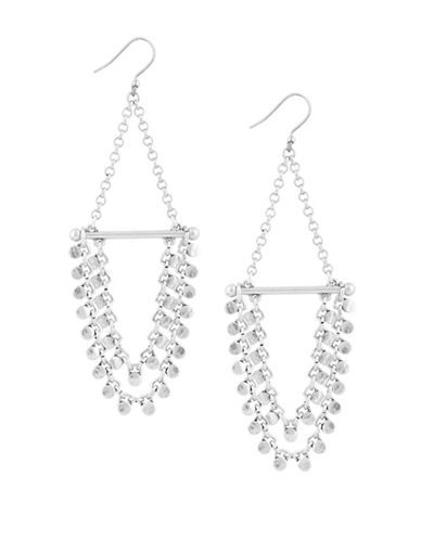 Lucky Brand Trapeze Chain Drop Earrings-MULTI-One Size