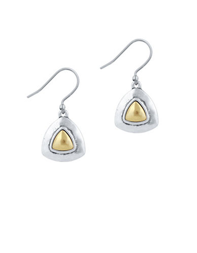 Lucky Brand Drop Earrings-TWO TONE-One Size