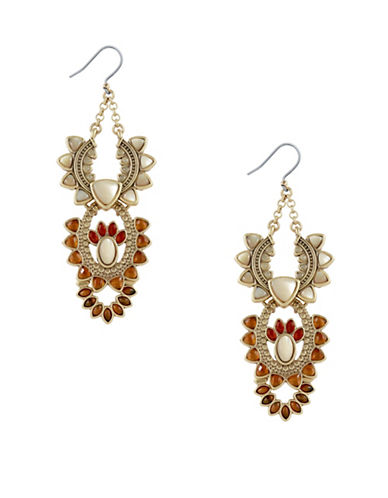 Lucky Brand Statement Earrings-GOLD-One Size