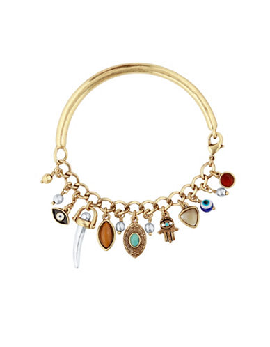 Lucky Brand Hamsa Charm Bracelet-GOLD-One Size