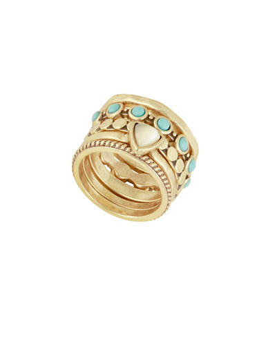 Lucky Brand Stack Ring-GOLD-One Size
