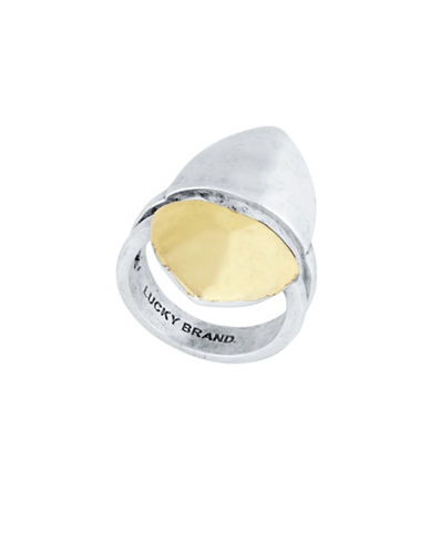 Lucky Brand Silvertone with Goldtone Accent Ring-TWO TONE-One Size