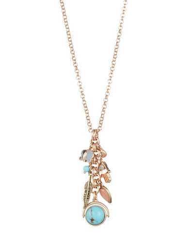 Lucky Brand Believe Charm Necklace-ASSORTED-One Size