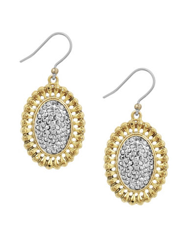 Lucky Brand Killing Me Softly Two-Tone Crystal Pavé Drop Earrings-TWO TONE-One Size
