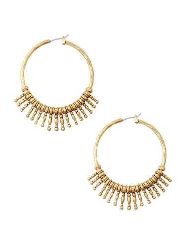 Lucky Brand Killing Me Softly Sunburst Hoop Earrings-GOLD-One Size