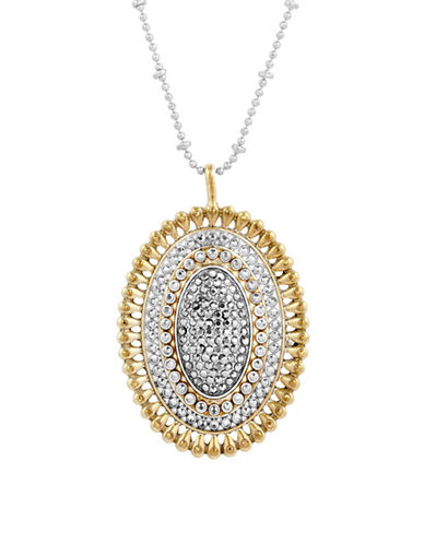Lucky Brand Crystal Pave Pendant Necklace-ASSORTED-One Size