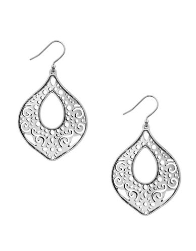Lucky Brand Under The Influence Openwork Drop Earrings-SILVER-One Size