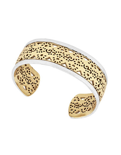 Lucky Brand Under The Influence Cuff Bracelet-GOLD-One Size
