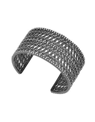 Lucky Brand Under The Influence Crystal Pavé Cuff Bracelet-SILVER-One Size
