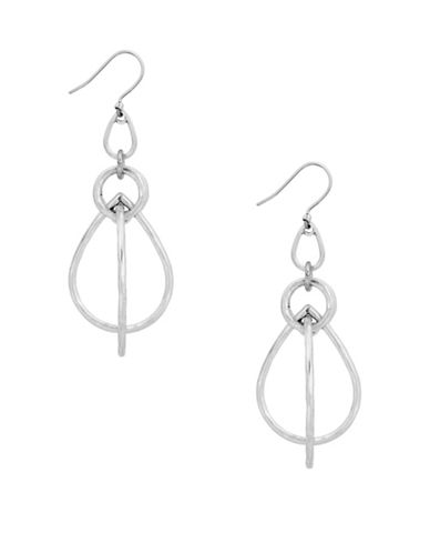 Lucky Brand Under The Influence Orbital Drop Earrings-SILVER-One Size