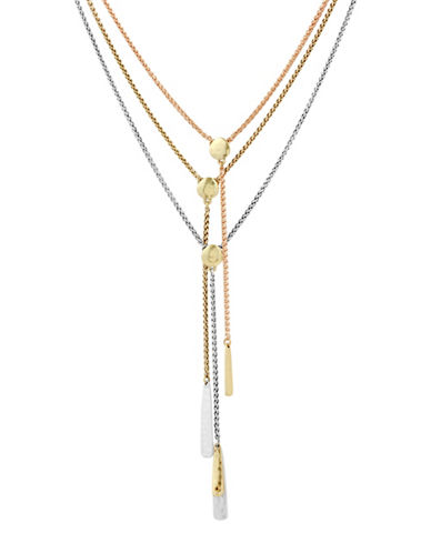 Lucky Brand Crystal Lariat Necklace-ASSORTED-One Size