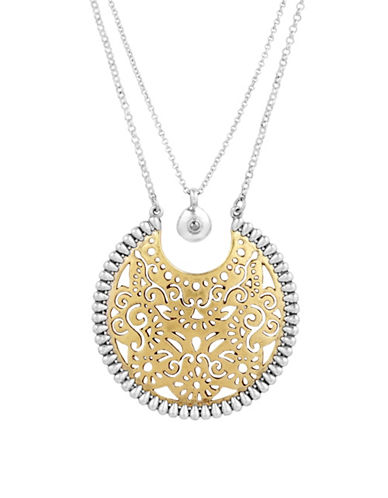 Lucky Brand Under The Influence Rock Crystal Necklace-ASSORTED-One Size