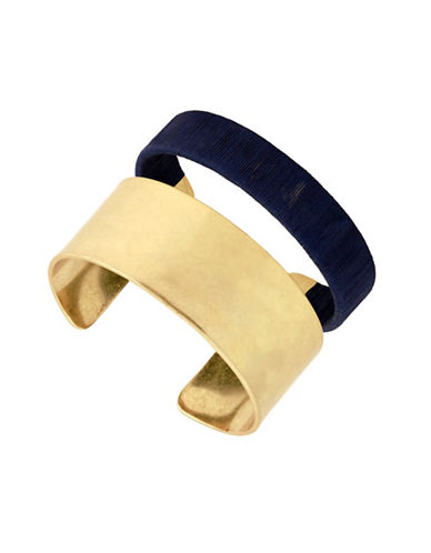Lucky Brand Wrapped Cuff Bracelet-GOLD-One Size