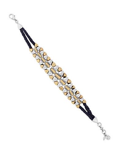 Lucky Brand Semi-Precious Stone Link Bracelet-TWO TONE-One Size