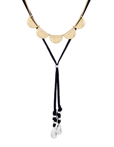 Lucky Brand Multi-Strand Bolo Necklace-BLACK-One Size