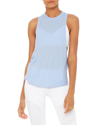 Alo Yoga Flex Tank Top-BLUE-Medium 90025259_BLUE_Medium