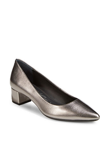 Calvin Klein Genoveva Metallic Pumps-PEWTER-11