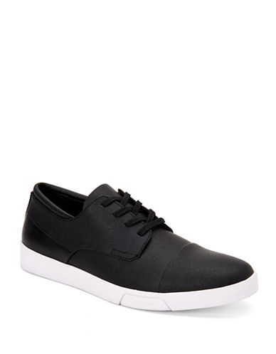 Calvin Klein Bailey Textured Low-Top Sneakers-BLACK-10.5