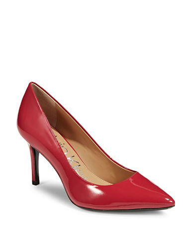 Calvin Klein Gayle Leather Pumps-RED-8.5